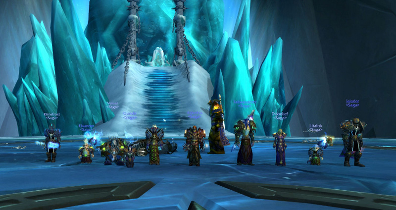 Screenshot from our first successfull Lich King kill in Wrath of The Lich King