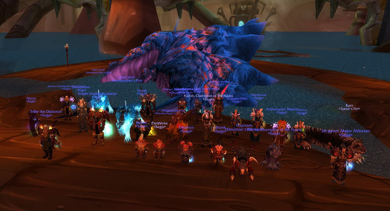 Screenshot from our first successfull Lurker From Below kill in The Burning Crusade