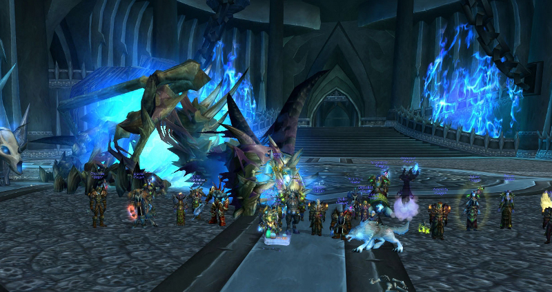 Screenshot from our first successfull Sindragosa kill in Wrath of The Lich King